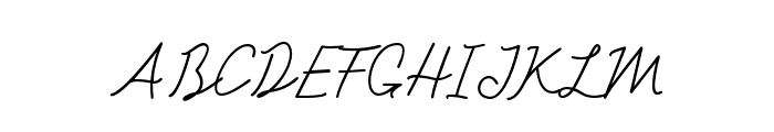 Cotana Font UPPERCASE