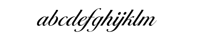 Cotillion Regular Font LOWERCASE