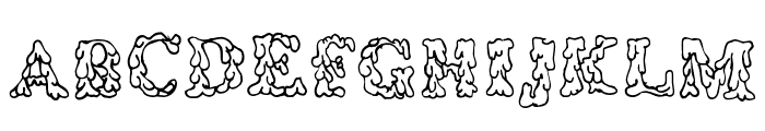 Coulures Font UPPERCASE