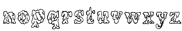 Coulures Font LOWERCASE