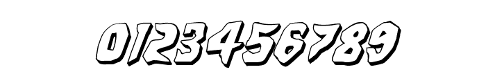 Count Suckula 3D Italic Font OTHER CHARS