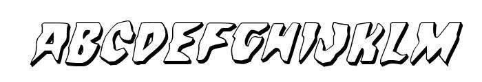 Count Suckula 3D Italic Font UPPERCASE