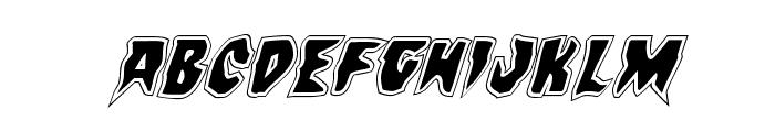 Count Suckula Academy Italic Font UPPERCASE