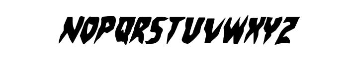 Count Suckula Condensed Italic Font UPPERCASE