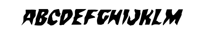 Count Suckula Italic Font LOWERCASE