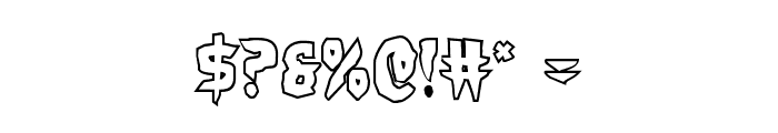 Count Suckula Outline Font OTHER CHARS