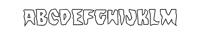 Count Suckula Outline Font LOWERCASE
