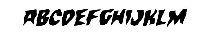 Count Suckula Rotalic Font LOWERCASE