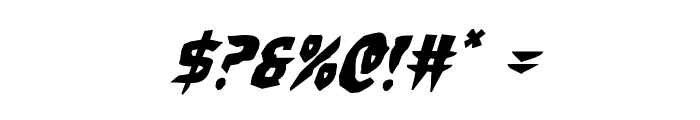Count Suckula Staggered Italic Font OTHER CHARS