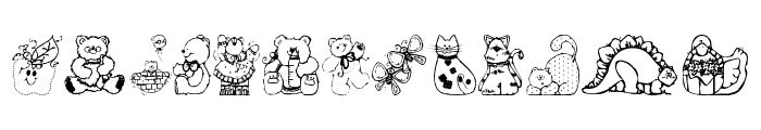 Country Cuties Font LOWERCASE