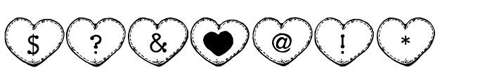 Country Hearts Font OTHER CHARS