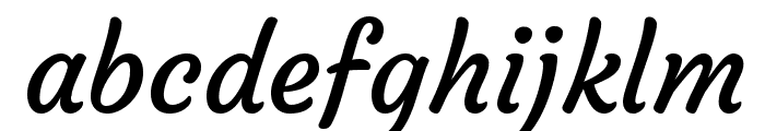 Courgette Regular Font LOWERCASE
