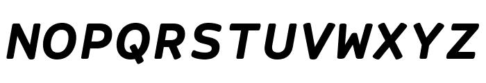 Courier Prime Sans Bold Italic Font UPPERCASE