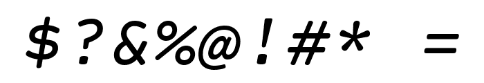 Courier Prime Sans Italic Font OTHER CHARS