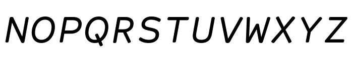 Courier Prime Sans Italic Font UPPERCASE