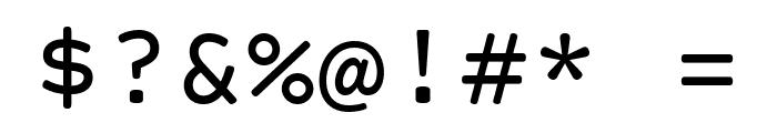 Courier Prime Sans Font OTHER CHARS