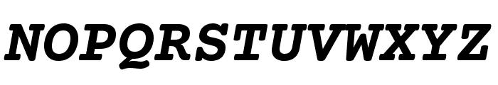 CourierPrime-BoldItalic Font UPPERCASE