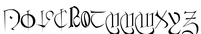 Courthand Plain: Font UPPERCASE
