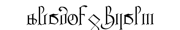 Courthand Plain: Font LOWERCASE