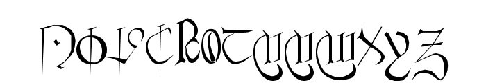 Courthand Regular Font UPPERCASE