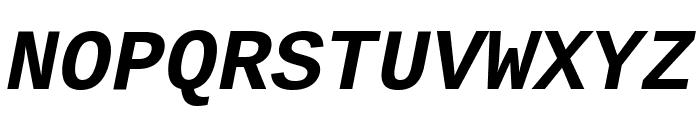 Cousine Bold Italic Font UPPERCASE
