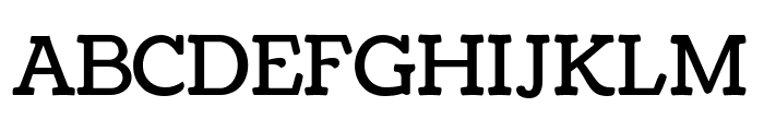 Coustard Regular Font UPPERCASE
