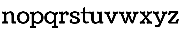 Coustard Regular Font LOWERCASE