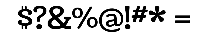 Coustard Font OTHER CHARS