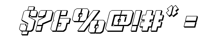 Covert Ops 3D Italic Font OTHER CHARS