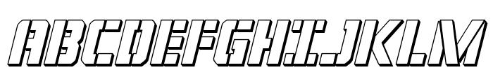 Covert Ops 3D Italic Font UPPERCASE