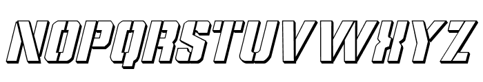 Covert Ops 3D Italic Font LOWERCASE