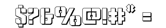Covert Ops 3D Regular Font OTHER CHARS