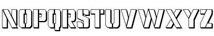 Covert Ops 3D Regular Font UPPERCASE