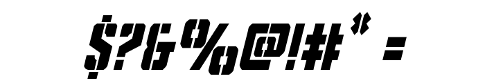 Covert Ops Condensed Italic Font OTHER CHARS