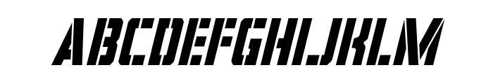 Covert Ops Condensed Italic Font LOWERCASE