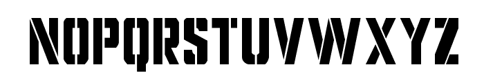 Covert Ops Condensed Font UPPERCASE