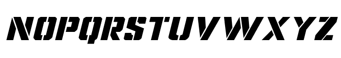 Covert Ops Expanded Italic Font UPPERCASE