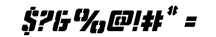 Covert Ops Italic Font OTHER CHARS