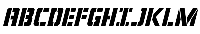 Covert Ops Italic Font UPPERCASE