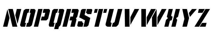 Covert Ops Italic Font LOWERCASE