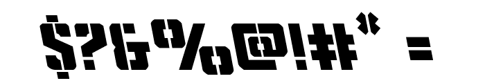 Covert Ops Leftalic Font OTHER CHARS