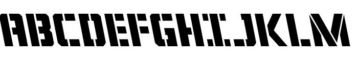 Covert Ops Leftalic Font UPPERCASE