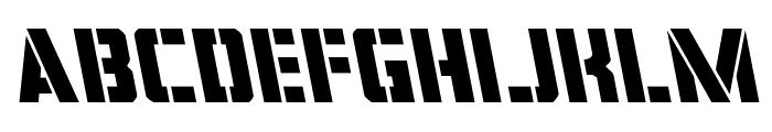 Covert Ops Leftalic Font LOWERCASE