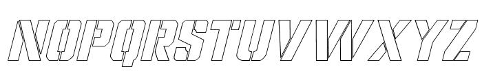 Covert Ops Outline Italic Font UPPERCASE
