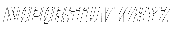 Covert Ops Outline Italic Font LOWERCASE