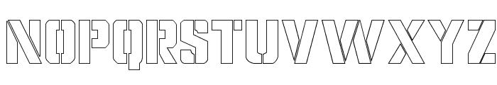 Covert Ops Outline Regular Font UPPERCASE