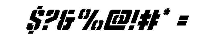 Covert Ops Super-Italic Font OTHER CHARS