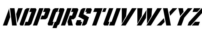 Covert Ops Super-Italic Font UPPERCASE