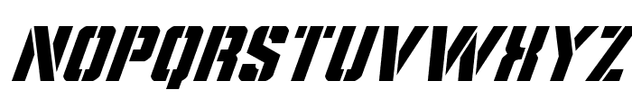 Covert Ops Super-Italic Font LOWERCASE