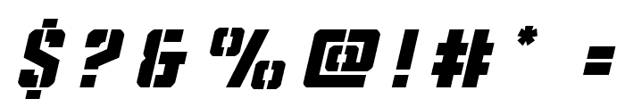 Covert Ops Title Italic Font OTHER CHARS
